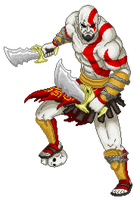 Kratos PixelArt by PainterBits