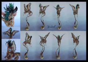 Feathered deer Companion by rivalmit