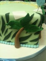 Jungle Cake Palm Tree Close Up by Spudnuts