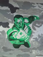 My painting of John Stewart by Leck-Zilla
