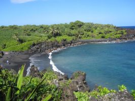 Black Sand Beach by Love-And-Be-Loved