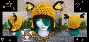 Raichu Earflap Hat by Cloud-Leporifelis