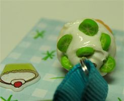 lime cupcake close up by MotherMayIjewelry