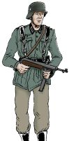 Wehrmacht soldier ww2 coloured by B4LD3R