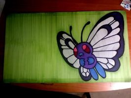 Butterfree GE Playmat by InfinityFangX