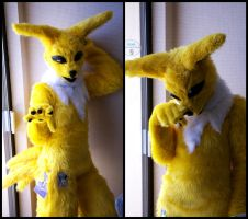 Jolteon Suit Shots by ArtsyTails