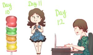 Drawing Challenge Days 10-12 by clau2586