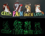 Hyena Badges by RHCP-Cream