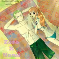 Zoro and Nami by HolderofTruth