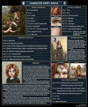 Character Sheet: Noelie by Isriana