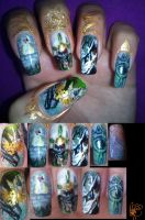 The Legend of Zelda Hero's Shade nail art by amanda04