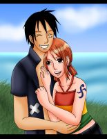 AT - Luffy x Nami Strong World by Kaschra