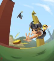 Q for Quidditch - Q-Bee - Queen by Senior-X