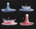 Water Droplets by Shiloh-Tovah