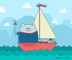 Bears Go Sailing by sebreg