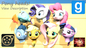 Gmod/SFM ponies [DL]: Pony Heads + Sources by Benno950