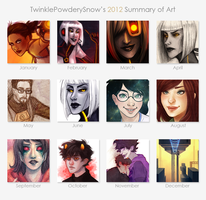 2012 art summary by TwinklePowderySnow