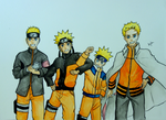 Naruto Uzumaki Painting (From Child to Hokage) by ahelectronics