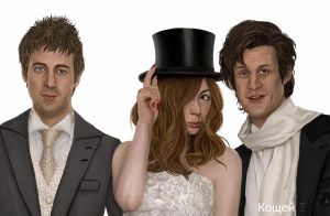 Mr and Mrs Pond and the Doctor by labrathor