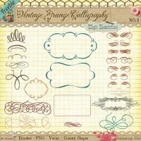 Free Vintage Calligraphy Borders and Ornaments by starsunflowerstudio