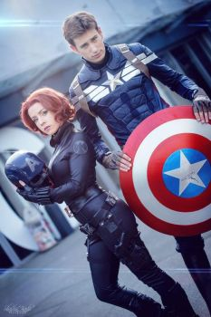 Black Widow and Captain America cosplay costume by cosplayclass