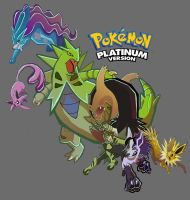 Pokemon Platinum Team by Droemar