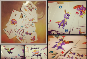 Spyro-Playing Cards by KrazyKari