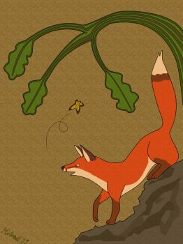 red fox by Mintnadt