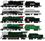 The Lionel Famous American Railroad Engines by TNO-794