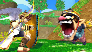 Wario gets a surprise by SmashBros2008