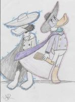 Negaduck and Posiduck by JudgeChaos