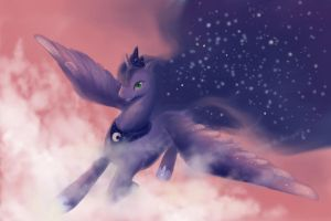Rising The Night(LUNA) by FoxTailPegasus
