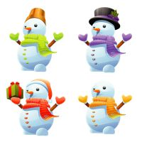 3D Cute Snowman Vector Set by FreeIconsFinder