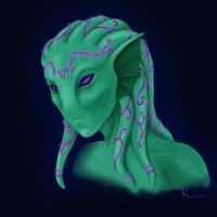 Glowing Alien portrait by MayuMerisiel