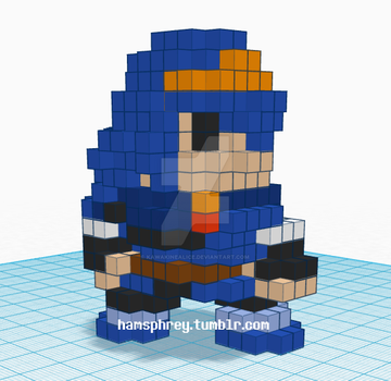 Lucina Pixel Amiibo Preview by KawakineAlice