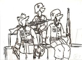 German Soldiers by MG0815