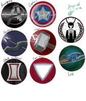 Avengers Button Set by MooniesLove