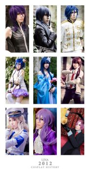 - 2012 Cosplay History - by Lina-Lau