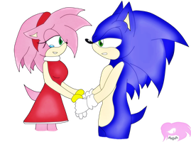 SonAmy Happy B-Day Sonikkufreak by Caro-KiraxDarkSonic