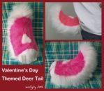 Valentines Day deer fursuit tail by wolfytg