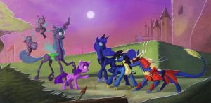 Fall of Equestria - Unlikely Allies by Lionel23