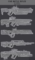5 Battle Rifles by primnull