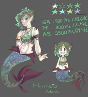 Mermaid Adopt // Auction // CLOSED TY by Zuccinii