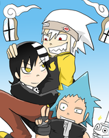 Soul Eater: Shibusen Gang by BladeXD