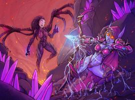 Kerrigan Vs Sylvana by alexichabane