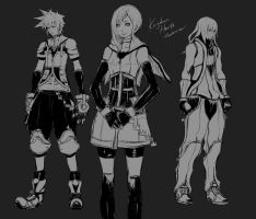 KH - Older Sora, Kairi and Riku by Rousteinire