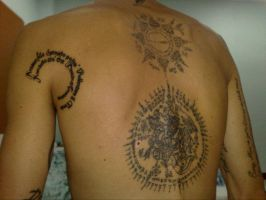 Thai tattoo with bamboo by eidemon666