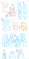 Korra sketch dump 2 O_o by Zugoldragon
