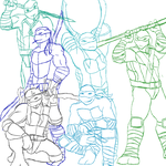 Group Pose(very early look, very rough sketch) by TheTroop3rHD