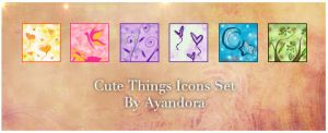 Cute Things Icons Set by Ayandora